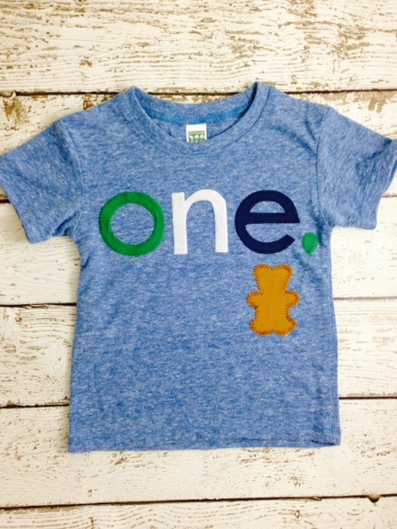 Teddy Bear birthday shirt Customize colors Boys Girls Organic Blend Birthday Tee first second kid's t-shirt