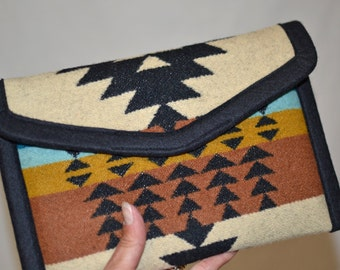Tribal iPad mini Case cover sleeve handcrafted of Native American wool - ipad mini 1 2 3 4 accessories electronics cases