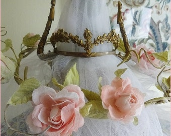 Crown, Vintage Crown, Saints Crown, Vintage Tiara For Saint or Doll,Gorgeous 19th Century French Saint Statue Couronne CROWN