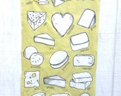 The Cheese tea towel chef cheese lovers gift