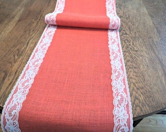 Choose your color burlap table runner 23 colors by for 102 table runner