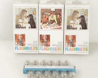 Lot of (3) Sylvania M3 Flashbulbs, 36 Bulbs: Polaroid 100, 250, 350 268 Flash Unit and Others