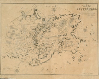 1831 Map of Gloucester, Massachusetts