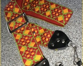 Vintage hippie style camera strap new in box
