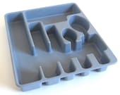 Rubbermaid Flatware Organizer Silverware Tray Blue Gray, Brown, Bright Yellow 2922 Cutlery Tray