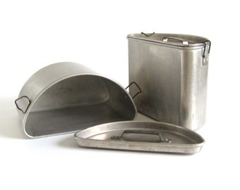Duo Deep Well Cooker, Ideal Pure Aluminum, possibly for Chambers Thermowell Stove Range, Clamping Lids