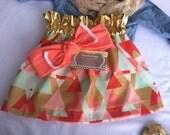 Poncho.Dean HIGH WAIST Skirt Ruffle Gold Waist Aztec Tribal Toddler Child Girl Skirt