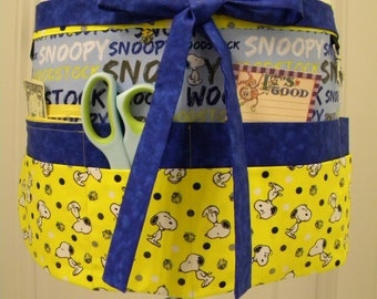 Teacher Crafter Vendor Utility Apron-Snoopy and Woodstock