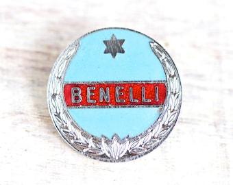 Benelli Motorcycles Pin - Rocker Biker Badge - Blue Enamel