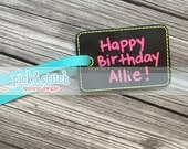 Blank In the Hoop Reusable Chalkboard Gift Tags Machine Embroidery INSTANT DOWNLOAD