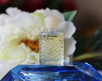 """Vintage 1970s Perfume """"Eau de Rochas"""" by Rochas Eau de Parfum 3ml Splash 100% Full Mini Travel size Bottle Collectible"""