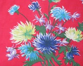 Just for Touch Wood Design -3 peices of Mid century vintage curtain fabric  floral tropical Op Art