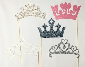 Crowns photobooth prop glitter 5 pc set