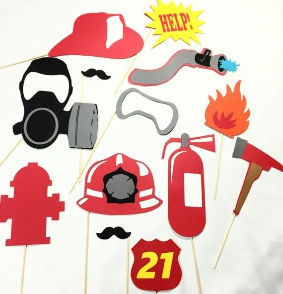 Firefighter Photobooth Prop Set