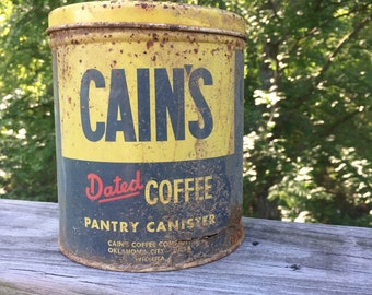 Cain's coffee can