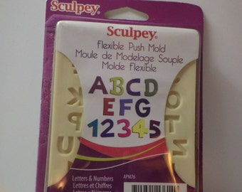 Letters and Numbers Flexible Clay Mold for Clay Crafting by Sculpey