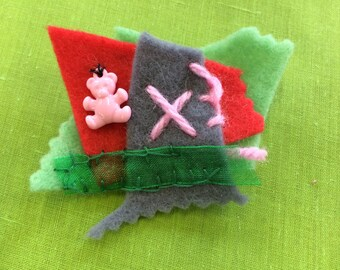 Felt brooch #6 - Free delivery to the UK