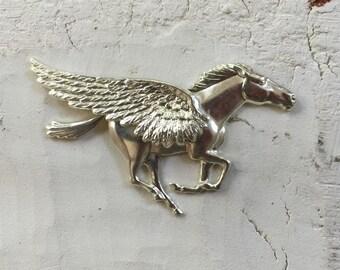 Bright Silver Pegasus Winged Horse  (1pc)