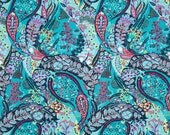11266 - Amy Butler PWAB127 Glow collection - Jolie in Azure color cotton Fabric - 1 Yard