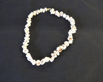 Vintage All Curled Shell Necklace Petite Choker Tropical