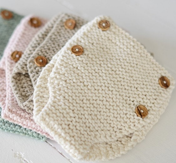Knitting pattern baby drawers pattern learn to knit diaper - Labores de crochet para bebes ...