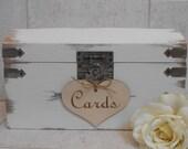 Wedding Card Box SALE / Card Box With Slot / Card Trunk / Wedding Card Holder / Rustic Card Box / Wedding Decorations / White Wedding Box