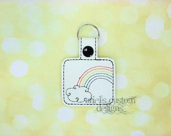 Rainbow Snap Tab Keyring - Keychain Keyfob