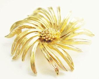 Vintage Mum Chrysanthemum Flower Brooch 60s D'Orlan Boucher