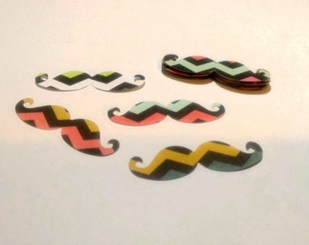 20-2 in. cardstock paper moustaches