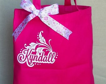 Personalized Canvas Bag - Leaves