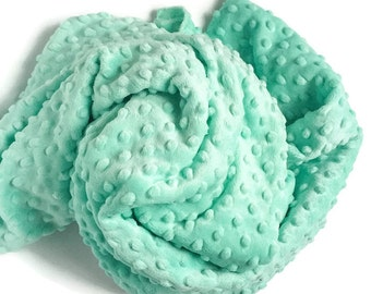 Minky Changing Pad Cover Mint - Solid Mint Changing Pad - Mint Minky Cover - Minky Changing Pad - Soft Changing Pad Cover - Cover