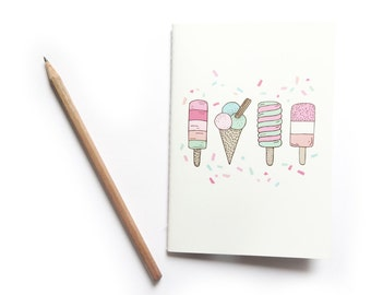 SALE Ice Cream Party A6 Notebook
