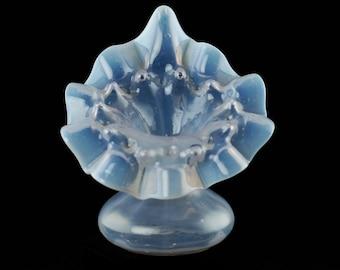 Antique Victorian Opalescent Art Glass Jack-in-the-Pulpit Vase
