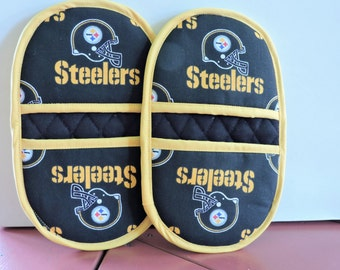Steelers Mini Microwave Mitts-Oven Mitts-Pinchers-Free Shipping