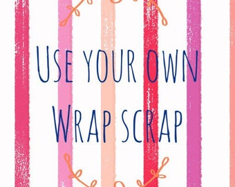 Use your own wrap scrap moccasins