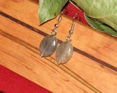 Handmade Simple Labradorite Earrings on Surgical Steel French Hooks