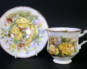 "Paragon ""Marlborough"" Teacup and Saucer"