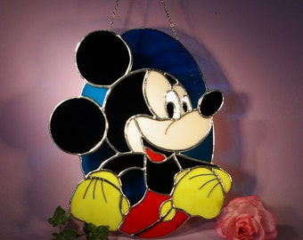 Stained Glass Mickey Mouse  Suncatcher (702)