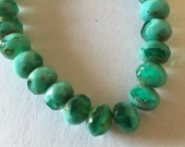 Czech Glass - Turquoise mix gemstone like 6x8 mm rondells