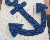 DECAL ONLY Glitter Anchor decal iron on
