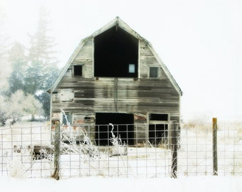 Little Barn / Barn Art / Farmhouse decor / Home Decor / Rustic Art /Barn photo / Wall Art
