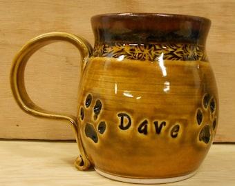 Custom Made Personalized Cat Paw Mug - Food, Dishwasher, Microwave Safe