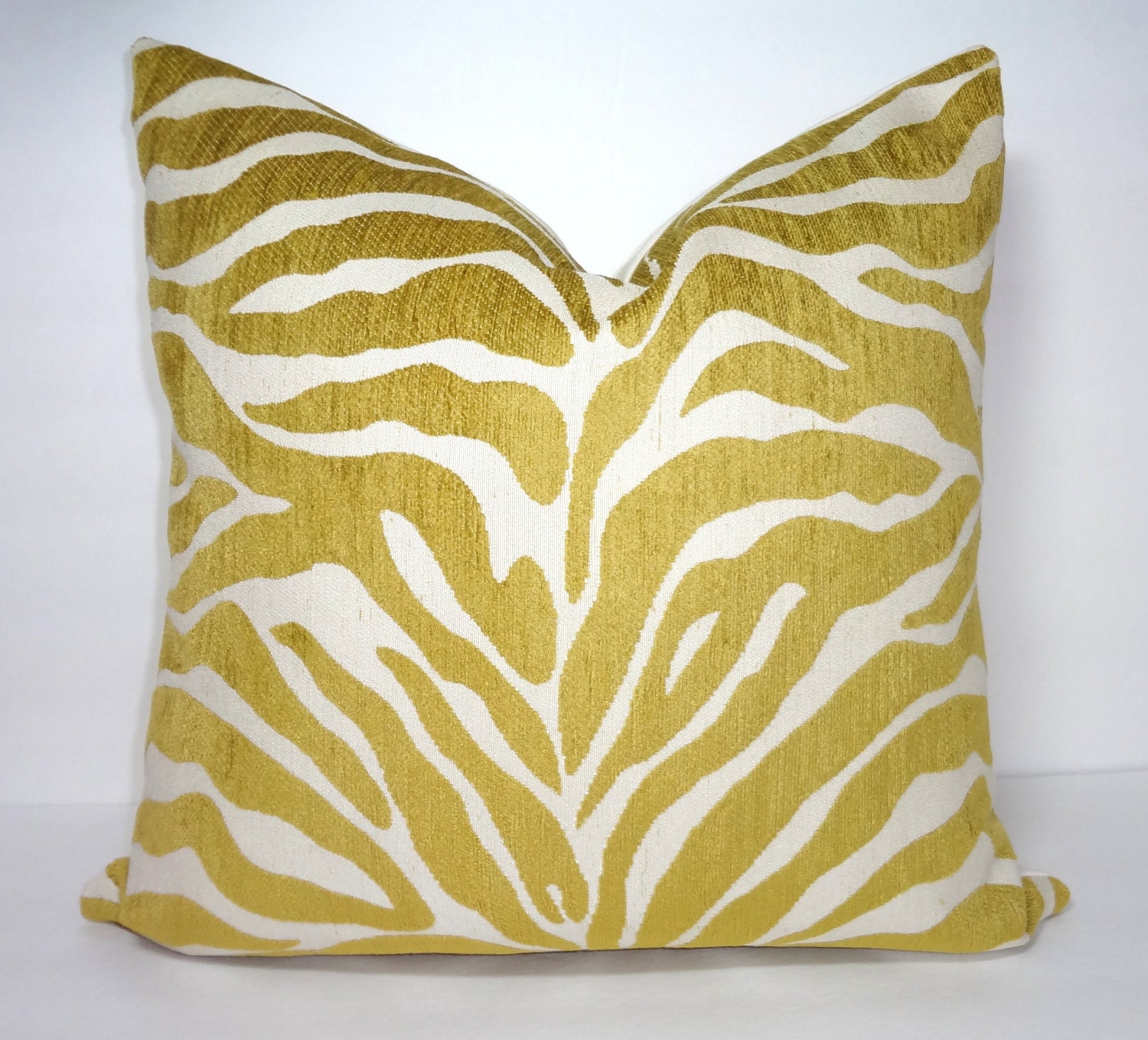 Gold Zebra Pillow Cover Throw Pillow Decorative Citrine