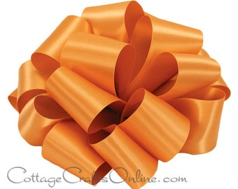 """CLEARANCE! Satin Ribbon Double Sided, 5/8"""" wide, Orange, 100 YARD ROLL, Offray Narrow Double Face Satin No. 3, """"Pumpkin 746"""" Sewing Trim"""
