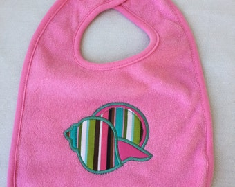 Beach Nautical Baby Bib -  Shell *** Great Gift Baby Shower or Birthday **