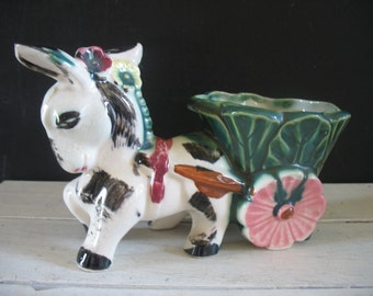 Vintage Burrow/Donkey Planter Japan