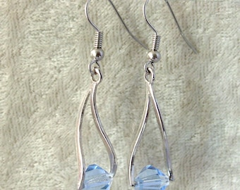 Swarovski Crystal Earrings - Light Sapphire