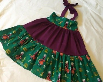 Twirly Sundress Made With Peter Pan and Captain Hook Fabric