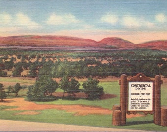 Gallup, New Mexico, Continental Divide - Linen Postcard - Unused (WWW)