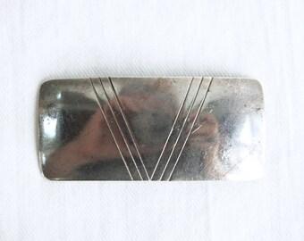 Southwest Brooch Pin Vintage Sterling Silver Geometric Bar Modern Southwestern Jewelry